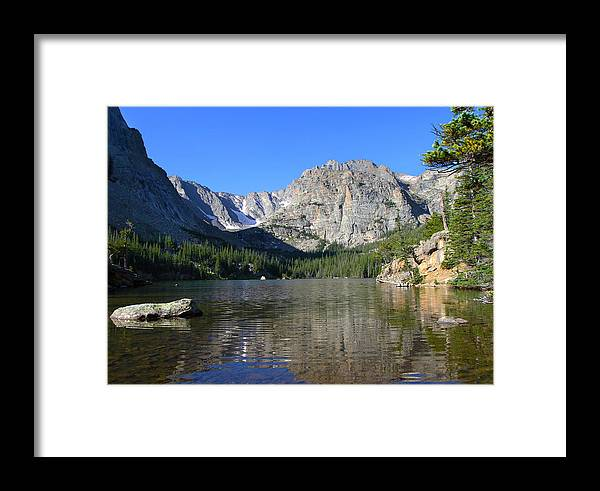 Sky Pond Framed Print featuring the photograph Sky Pond by David Yunker