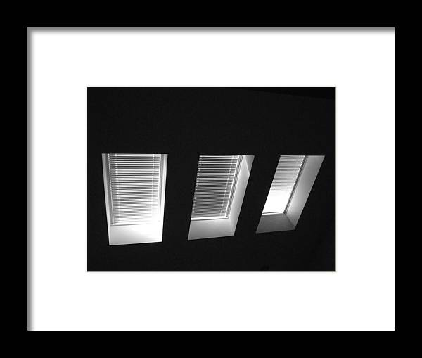 Skylight Framed Print featuring the photograph Skylight Abstract 12 by Mary Bedy