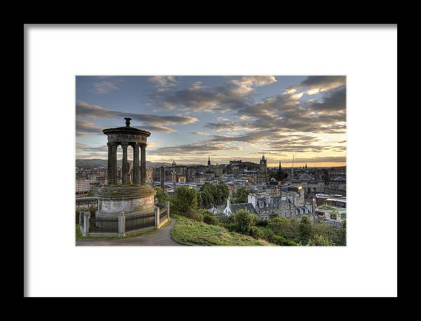 Edinburgh Framed Print featuring the photograph Skyline Of Edinburgh Scotland by Michalakis Ppalis