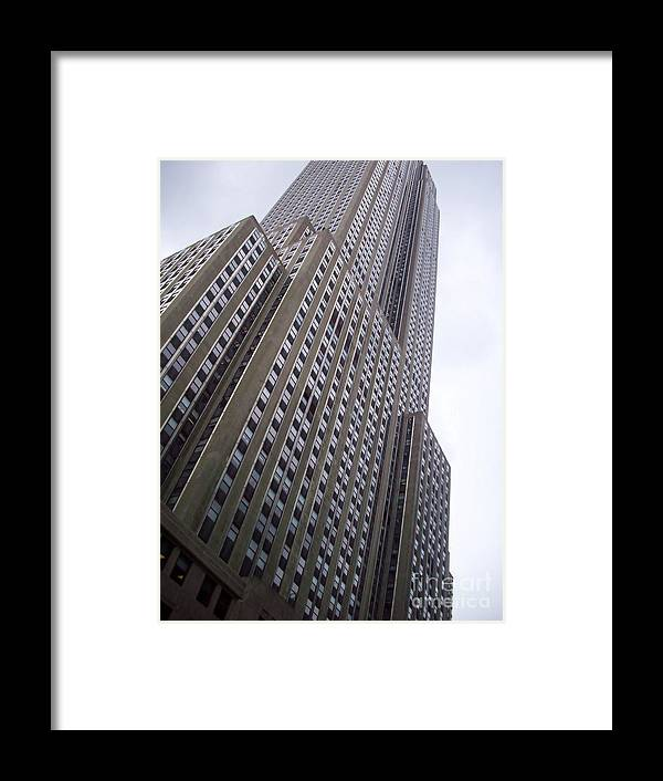 Skyscraper Framed Print featuring the photograph Skyscraper New York by Kostas Kanellopoulos
