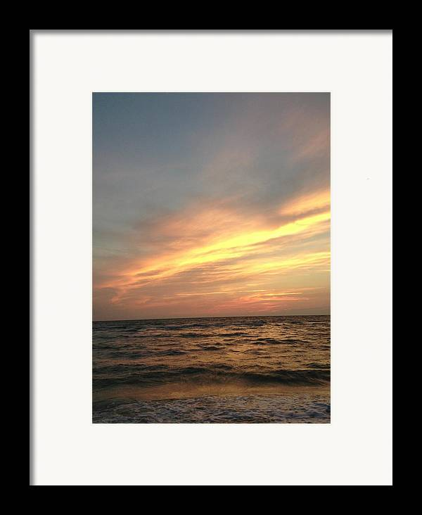 Sunset Framed Print featuring the photograph Slanted Setting by K Simmons Luna