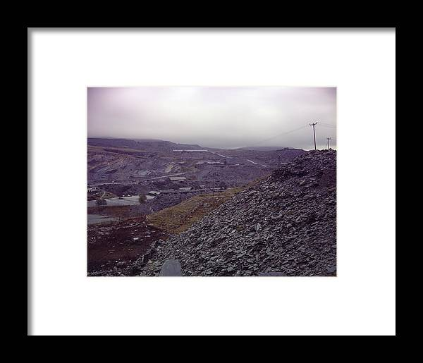 Wales Framed Print featuring the photograph The Industrial Landscape by Shaun Higson