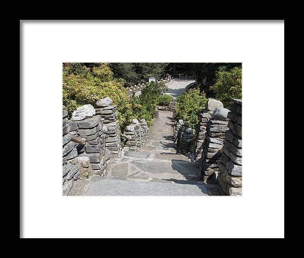 Slate Framed Print featuring the photograph Slate Steps by Catherine Gagne