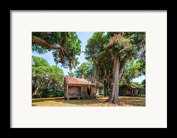 Evergreen Plantation Framed Print featuring the photograph Slave Quarters 2 by Steve Harrington
