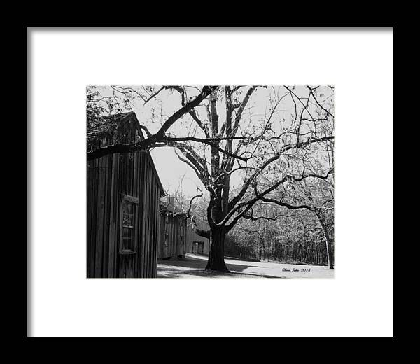 Slave Quarters Framed Print featuring the photograph Slave Quarters At Stagville Plantation by Steve Jahn