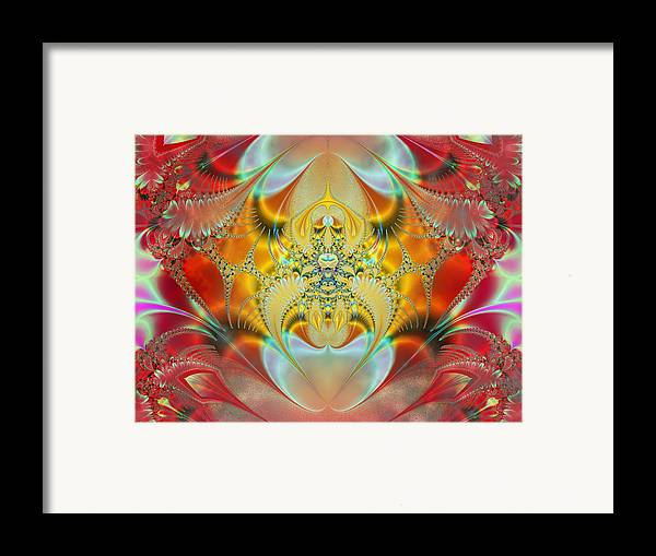 Abstract Framed Print featuring the digital art Sleeping Genie by Ian Mitchell
