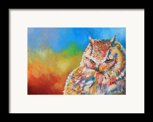 Blue Framed Print featuring the painting Sleepy Contemplation by Arie Van der Wijst