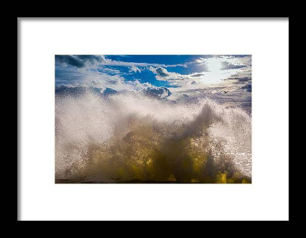 Waves Framed Print featuring the photograph Slide Away by Freddie Bennett