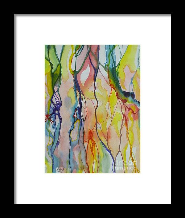 Abstract Framed Print featuring the painting Slumber by M J Venrick