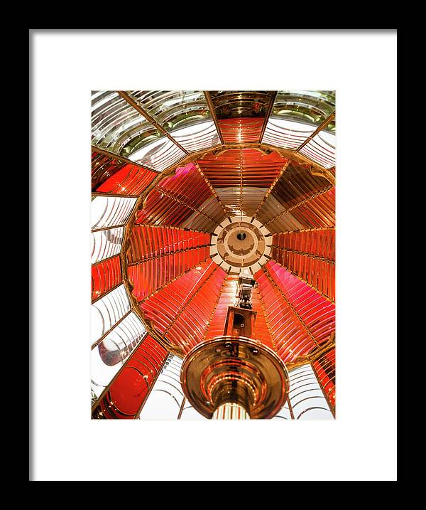 Prism Framed Print featuring the photograph Small Lamp Inside Fresnel Lens by Chrisboswell