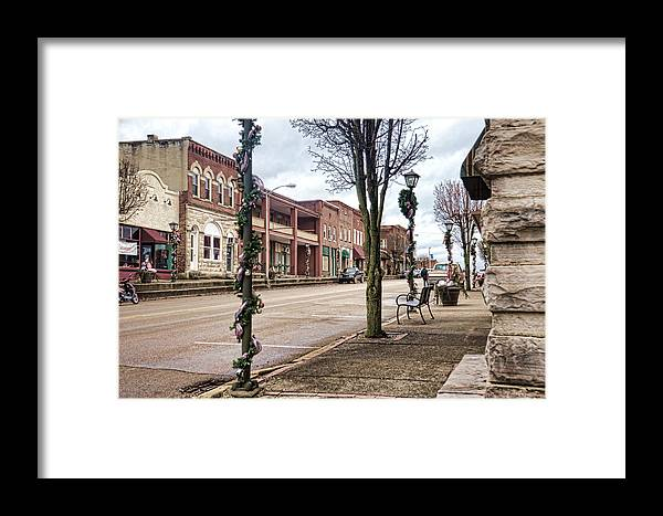 Sharon Framed Print featuring the photograph Small Town Christmas by Sharon Popek