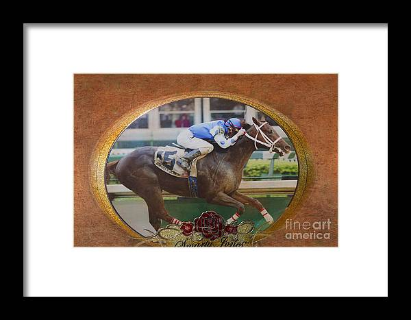 Emblem Framed Print featuring the photograph Smarty Jones by Betty LaRue