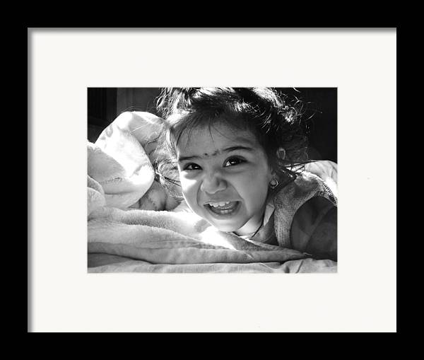 Children Framed Print featuring the photograph Smile by Makarand Purohit