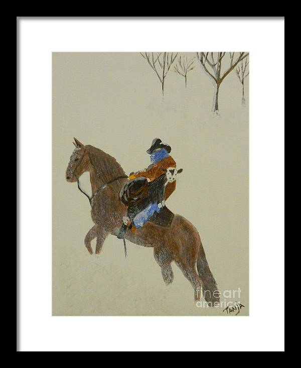 Cowboy Framed Print featuring the painting Smiling Calf by Tanja Beaver
