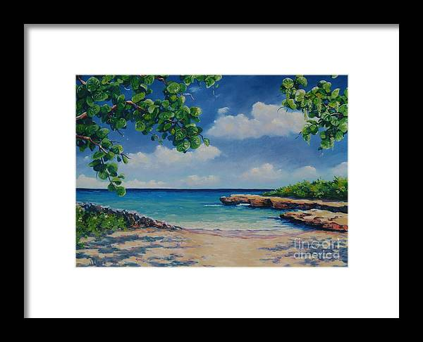 Cayman Framed Print featuring the painting Smith Cove 16x23 by John Clark