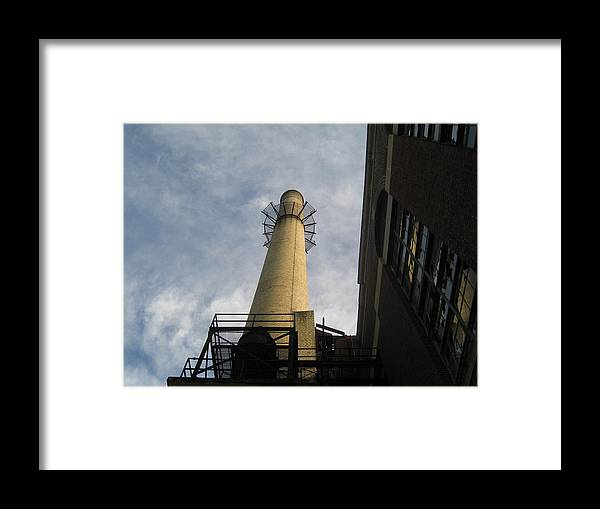 Architecture Framed Print featuring the photograph Smokestack by Peter DiFrancesco