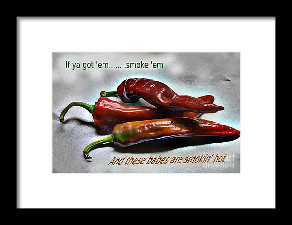 Hot Framed Print featuring the photograph Smokin' by The Stone Age
