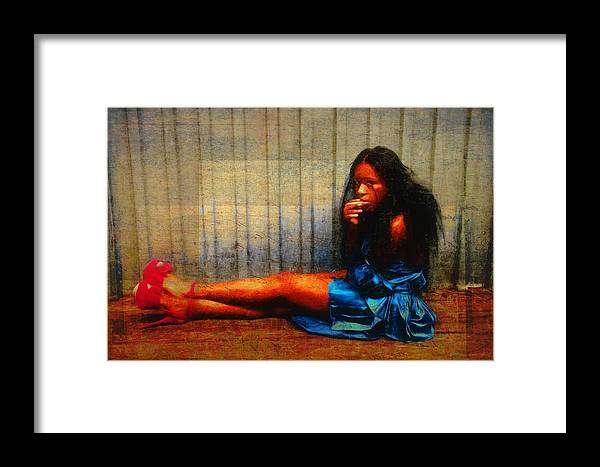 Woman Framed Print featuring the photograph Her Red Heels by Alice Gipson