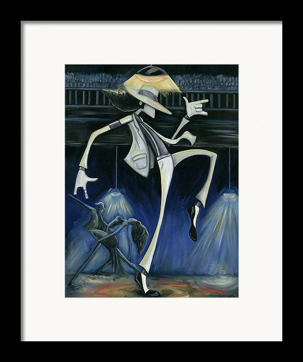 Smooth Framed Print featuring the painting Smooth Criminal by Tu-Kwon Thomas