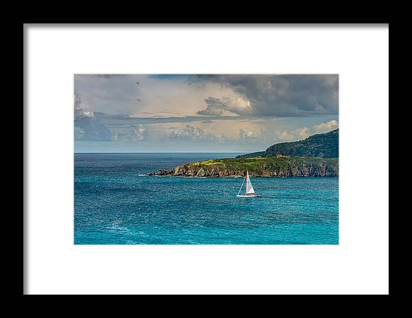 Sailboat Framed Print featuring the photograph Smooth Sailing by Paul Johnson