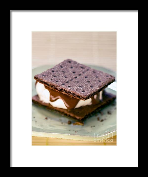 S'more With Chocolate Graham Framed Print featuring the photograph National S'mores Day by Iris Richardson