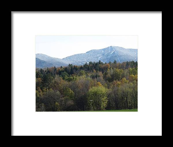 Mountain Framed Print featuring the photograph Smugglers Notch From Cambridge Vermont by Barbara McDevitt