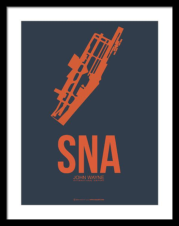 SNA Orange County Airport Poster 1 by Naxart Studio