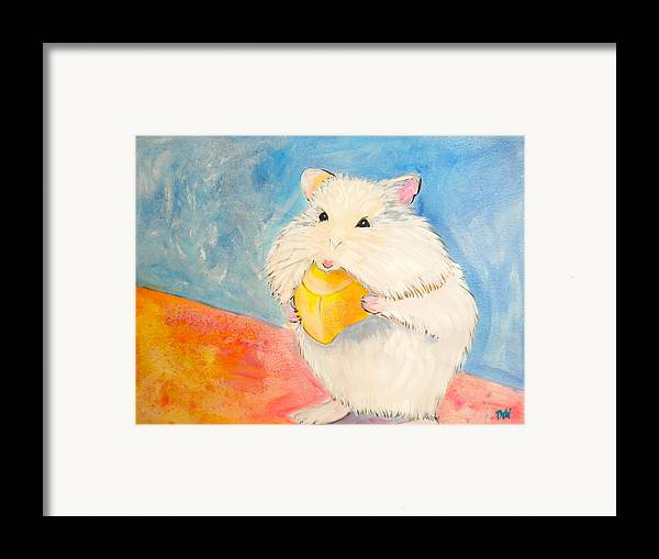 Snack Time Framed Print featuring the painting Snack Time by Debi Starr