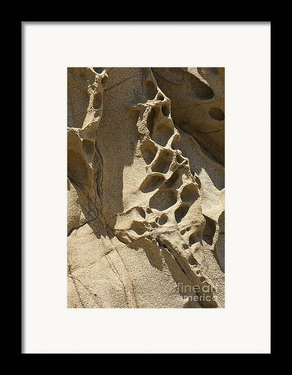 Point Lobos Framed Print featuring the photograph Snadstone Rock Formations In Big Sur by Artist and Photographer Laura Wrede