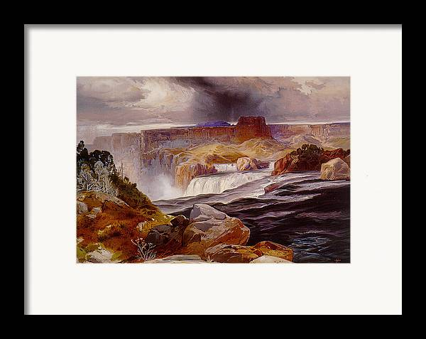 Unknown Framed Print featuring the photograph Snake River Idaho 1876 by Unknown