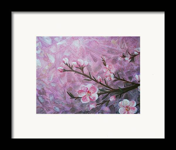 Blossom Framed Print featuring the painting Snow Blossom by Arlissa Vaughn