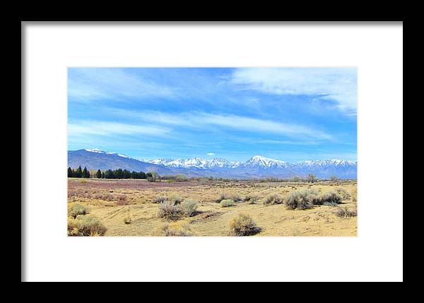 Sky Framed Print featuring the photograph Snow Capped by Marilyn Diaz
