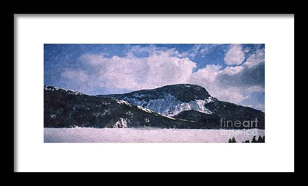 Snow Clouds Framed Print featuring the photograph Snow Clouds - Winter - Ice by Barbara Griffin