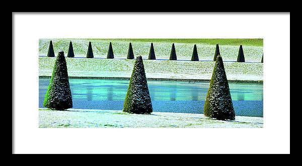 Tranquility Framed Print featuring the photograph Snow Covered Garden by Martial Colomb