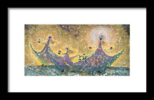 Joy Framed Print featuring the painting Snow Joy by Nadine Rippelmeyer