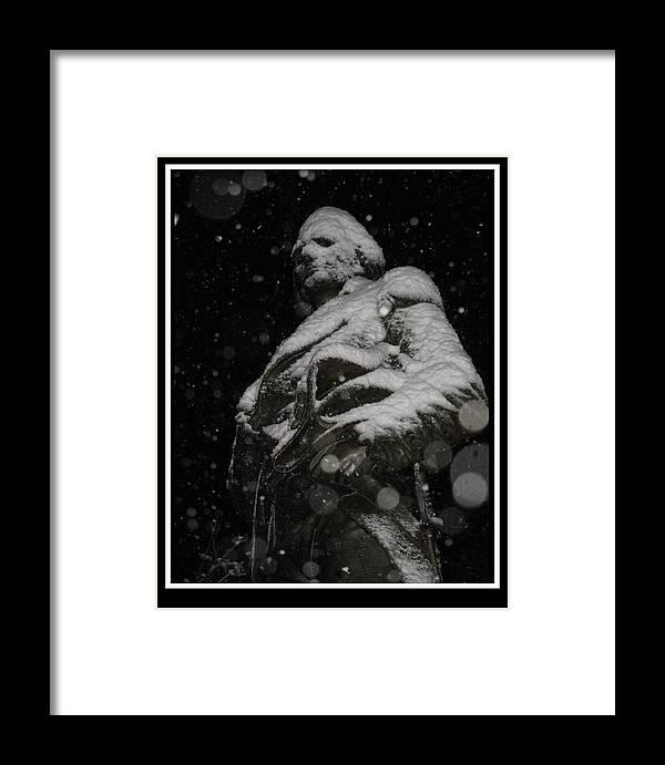 Snow Framed Print featuring the photograph Snow Mask By Darryl Kravitz by Darryl Kravitz