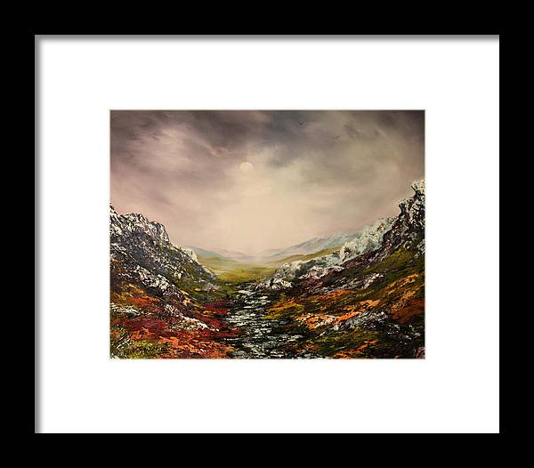 Scotland Framed Print featuring the painting Snow On The Cairngorms by Jean Walker