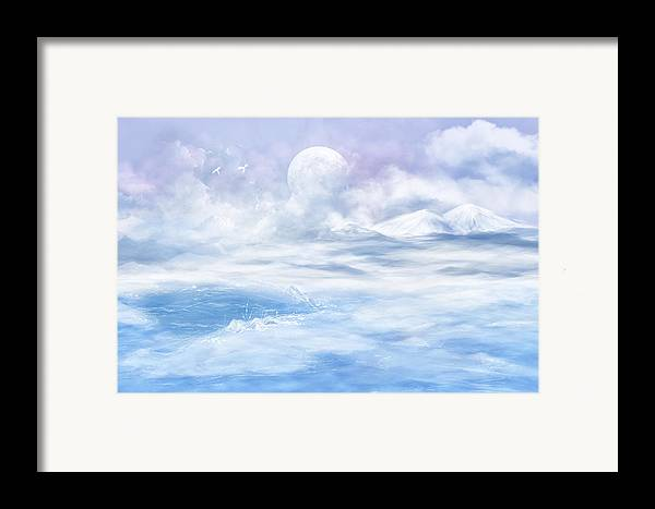 Fantasy Framed Print featuring the glass art Snow Valley by Nika Lerman