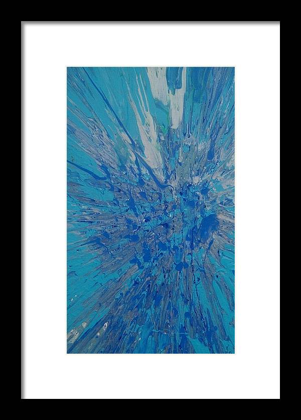 Acrylic Framed Print featuring the painting Snowflake Effect by Roy Hummel