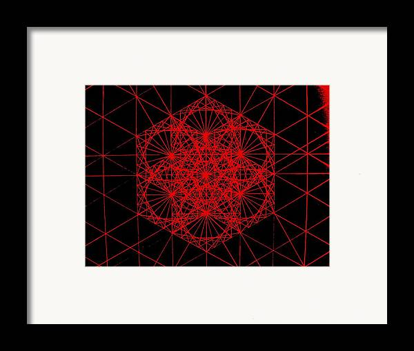 Koch.snowflake Framed Print featuring the drawing Snowflake Shape Comes From Frequency And Mass by Jason Padgett