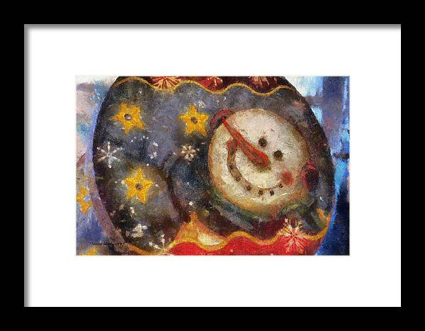 Winter Framed Print featuring the photograph Snowman Photo Art 07 by Thomas Woolworth