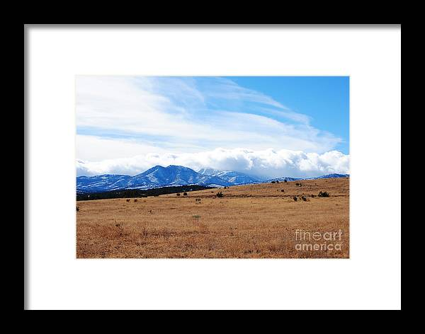 Mountains Framed Print featuring the photograph Snows Comming by Jon Rossiter