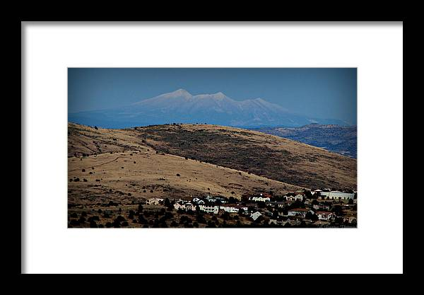 Prescott Framed Print featuring the photograph Snowy Arizona Peaks And Prairie Hills by Aaron Burrows