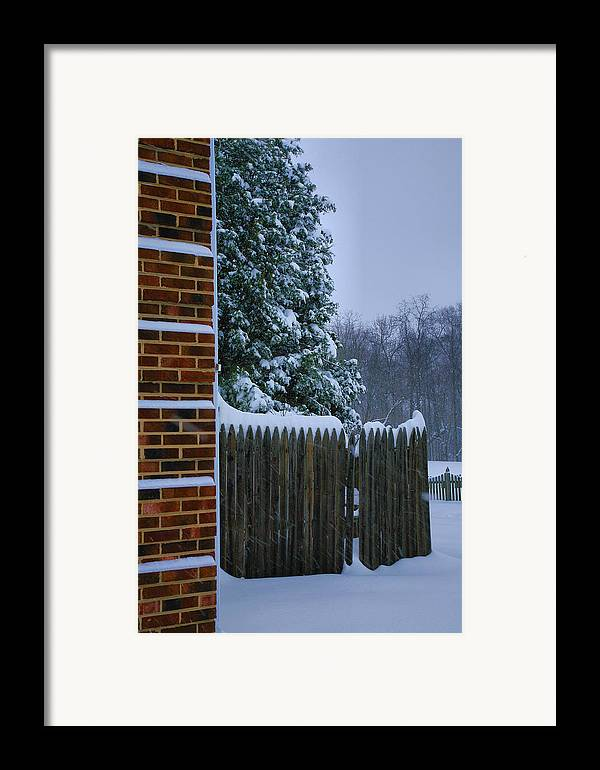 Snow Framed Print featuring the photograph Snowy Corner by Steven Ainsworth
