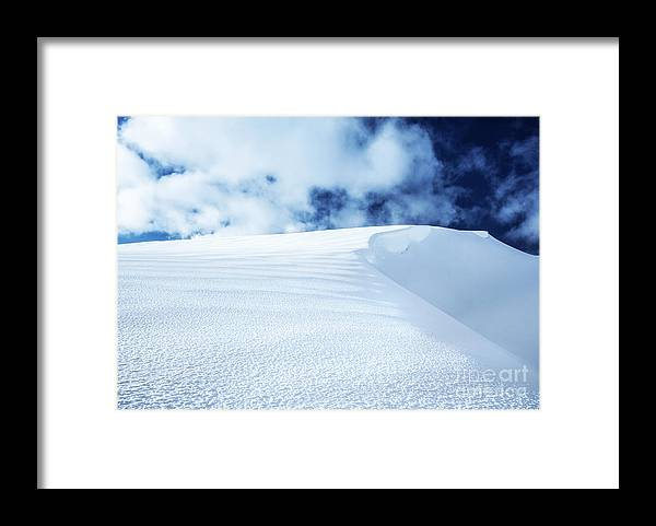 Alpine Framed Print featuring the photograph Snowy Mountain by Anna Om