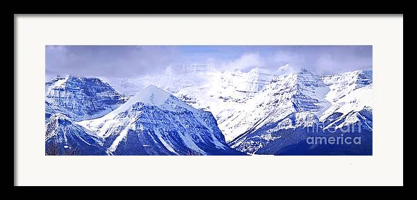 Mountain Framed Print featuring the photograph Snowy Mountains by Elena Elisseeva