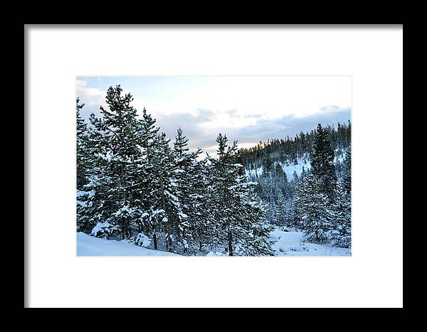Snow Framed Print featuring the photograph Snowy Ridge by Susan Chesnut