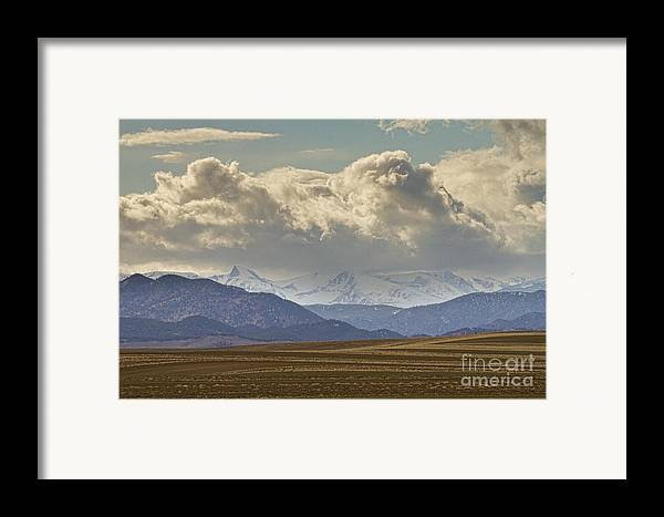 Rocky Mountains Framed Print featuring the photograph Snowy Rocky Mountains County View by James BO Insogna