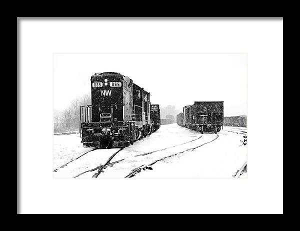 Hopewell Framed Print featuring the photograph Snowy Yard by Mike Flynn