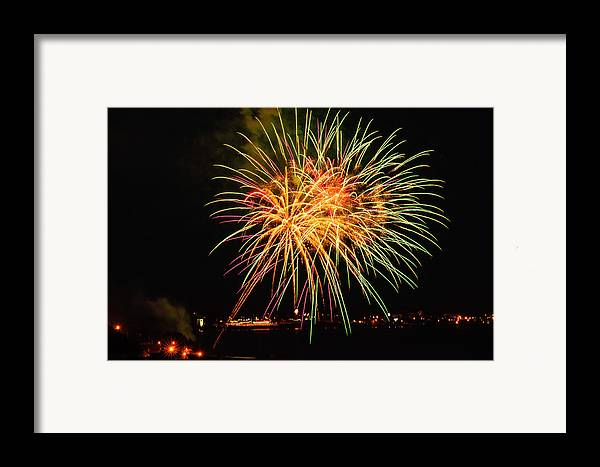 Fireworks Framed Print featuring the photograph So Many Colours by Sabine Edrissi